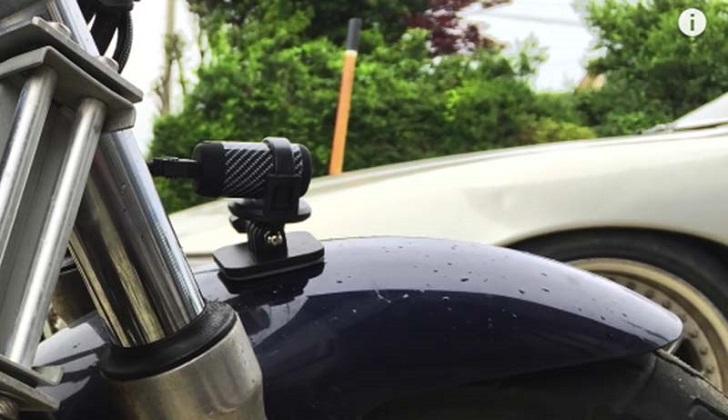 Экшн камера Bullet HD Biker PRO Plus на мотоцикле