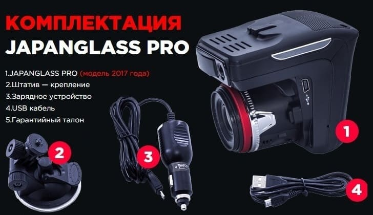 Комплектация Japan Glass Pro