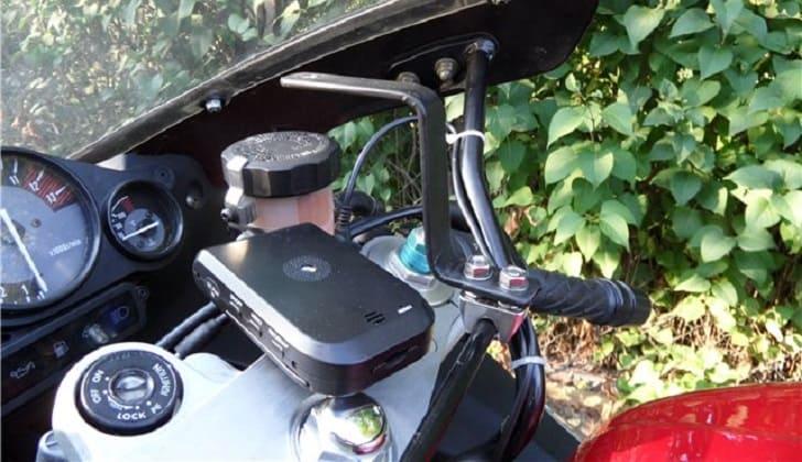 Видеорегистратор на мотоцикле