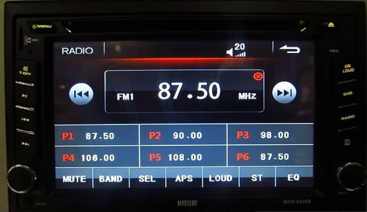 Аудиосистема Мистери в режиме радио