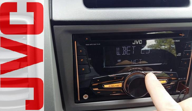 Автомагнитола в машине JVC KW-R520
