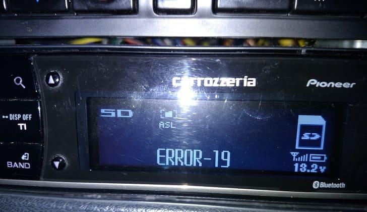 Error 19 на головном устройстве