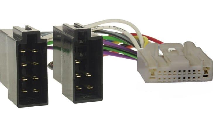 Переходник совместимый с автомагнитолой, сетью и аудио