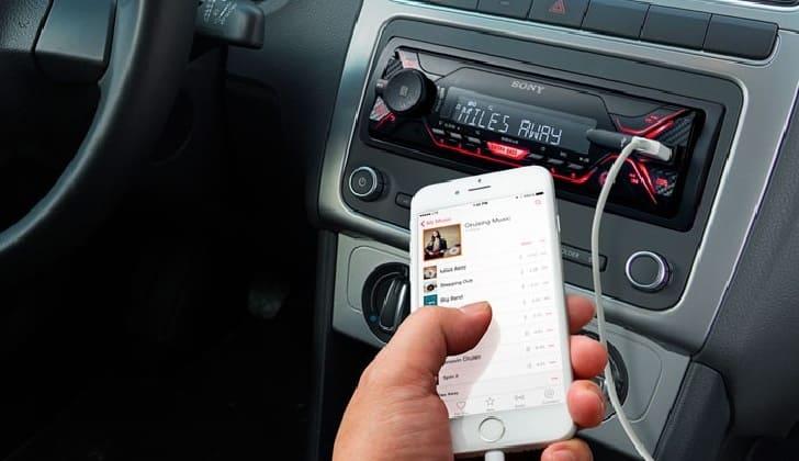 Подключение к телефону Sony DSX-A410BT