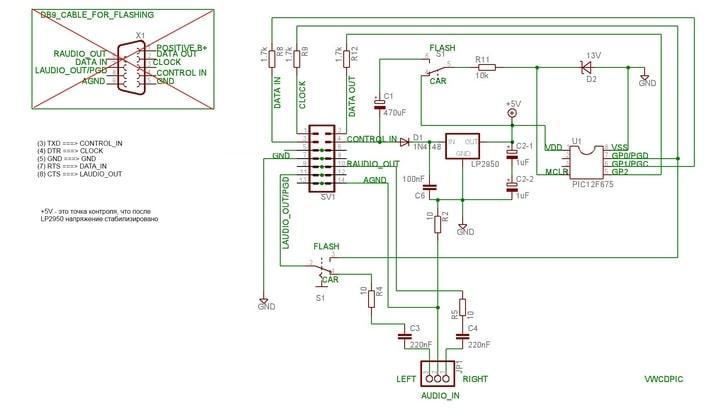 Схема аудиооборудования авто