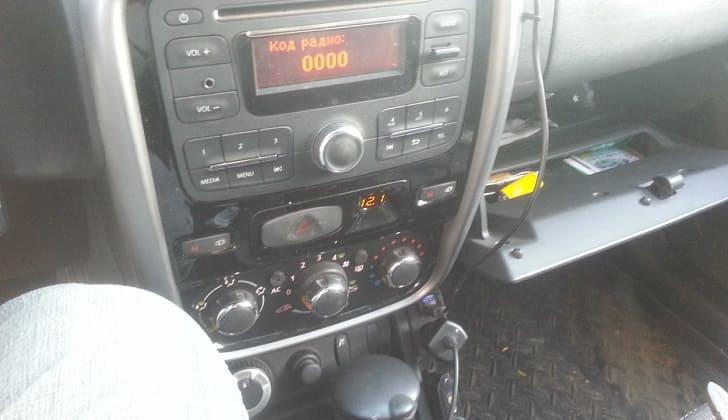 Код радио после падения напряжения