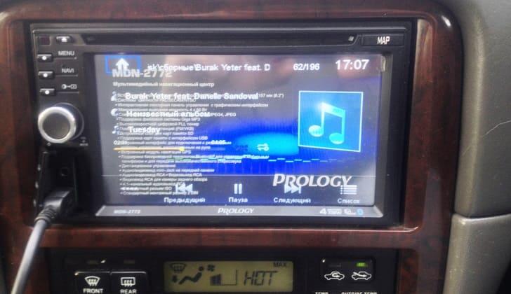 Prology MDN-2772 воспроизводит музыку