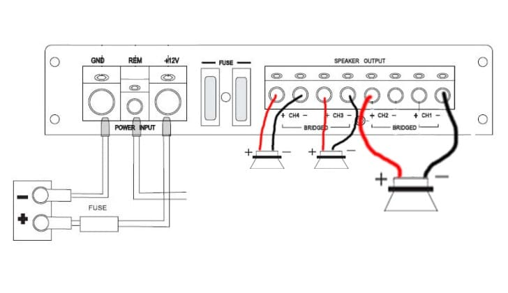Схема подключения звукоусилителя