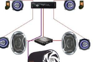 Как подключить усилитель к колонкам через сабвуфер и схема правильной установки (настройки) магнитолы в машине