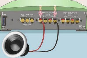 Мостовое подключение 4-канального усилителя к магнитоле на 2 канала и колонкам