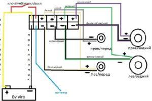 Инструкция и схема подключения магнитолы Пионер MVH-150UB (Pioneer) на русском языке