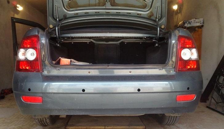 Монтаж парктроника на Ладу