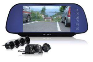 Установка парктроника с камерой заднего вида и монитором (зеркалом)
