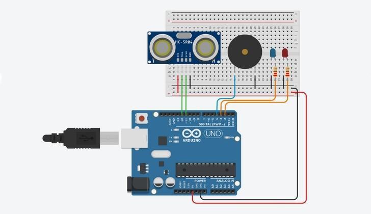 Схема парктроника Arduino