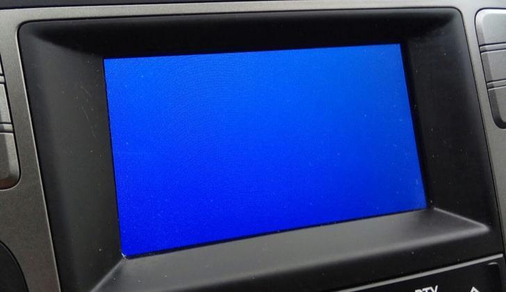Синий дисплей