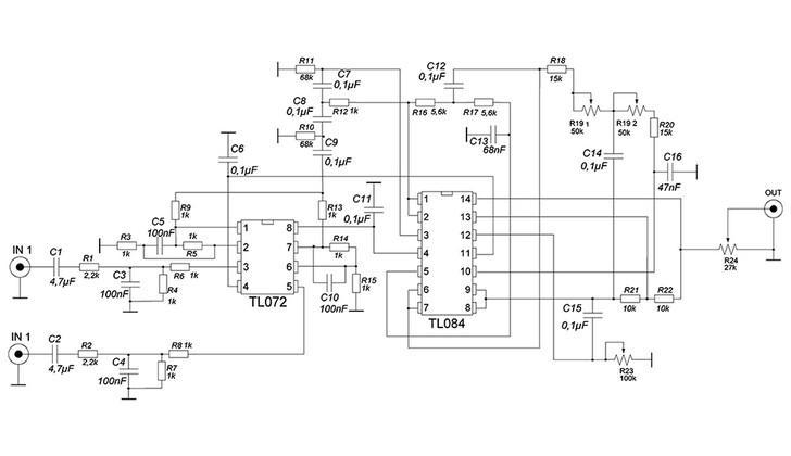 Схема частотного фильтра