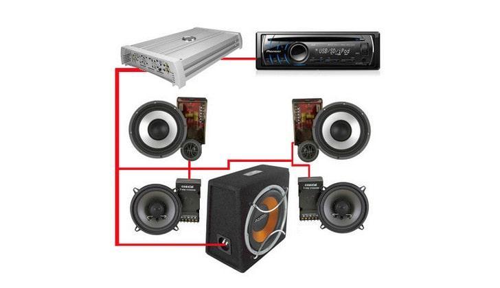Схема монтажа аудиооборудования