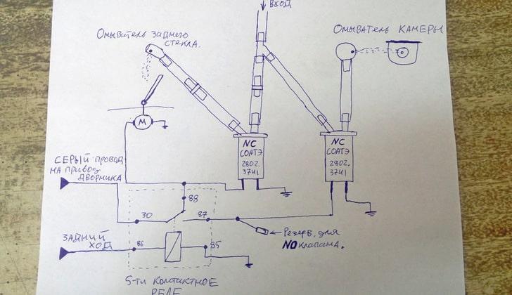 Схема работы омывателя