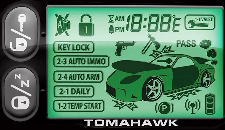 Дисплей и кнопки управления сигнализацией Томагавк