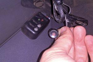 Как выглядит и где находится кнопка Override на сигнализации Tomahawk