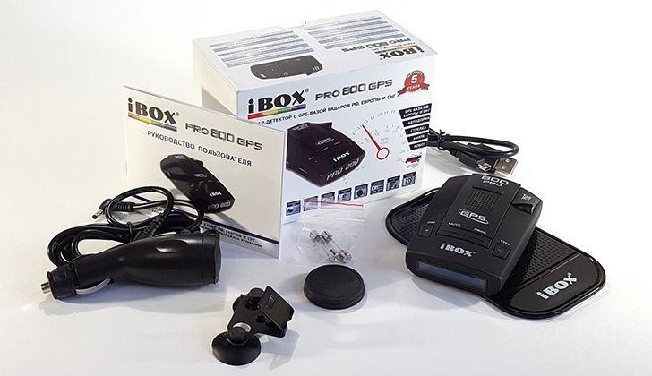 Комплектация детектора iBox 800 Pro