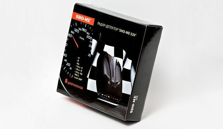 Коробка от детектора Sho-Me 520