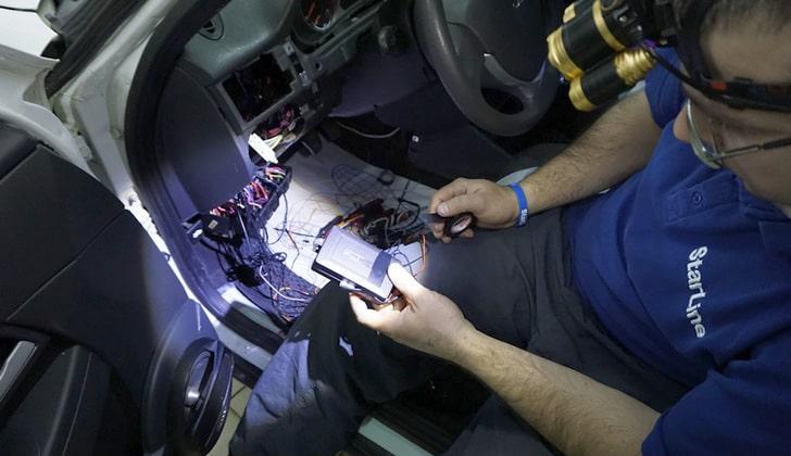 Монтаж сигнализации в машину