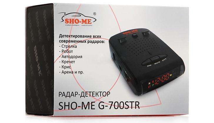 Упаковка радара SHO-ME
