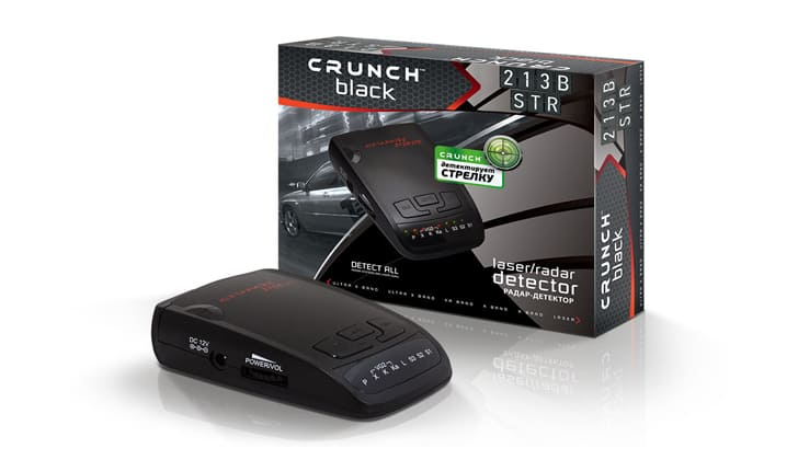 Crunch 213B рядом с коробкой