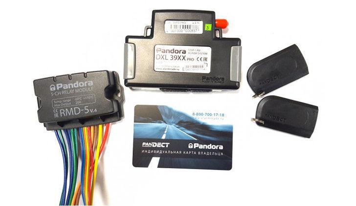 Комплектация сигнализации Pandora DXL 3910 Pro