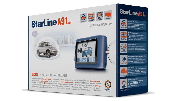 Коробка от StarLine A91