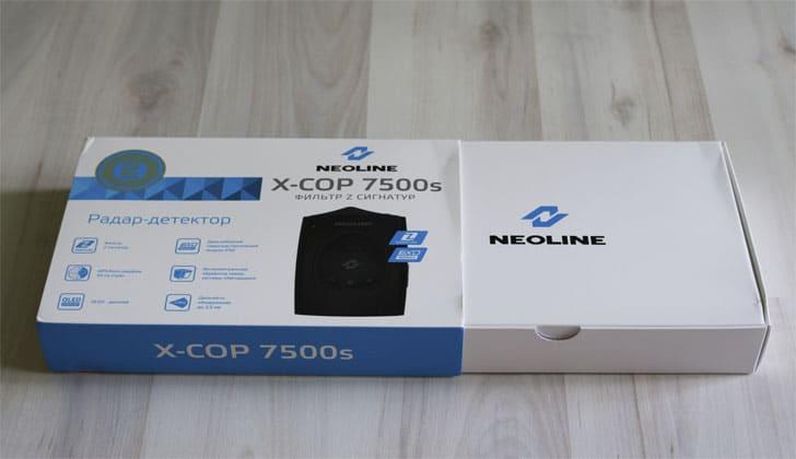 Модель Neoline X-COP 7500S в коробке