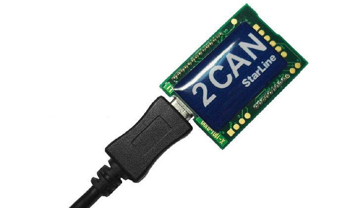 Подключение обходчика StarLine CAN LIN по USB