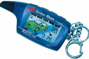 Сигнализация Scher-Khan Magicar с автозапуском и эргономичным пейджером