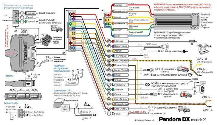 Схема от pandora dx-90l