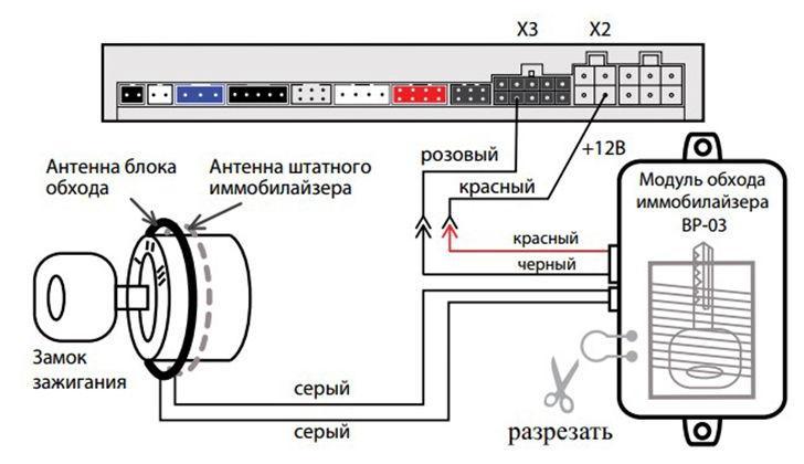 Схема подключения обходчика ВР-03