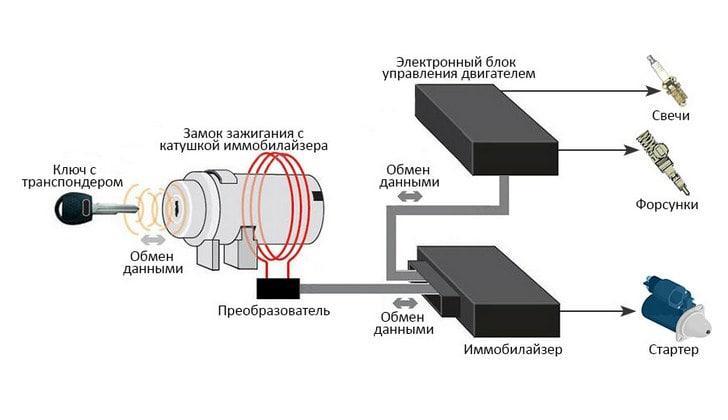 Схема устройства иммобилайзера