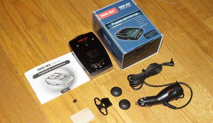 Sho-Me STR-535 в комплекте