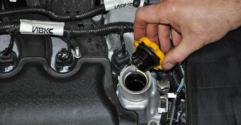 Лада Веста масло в двигатель