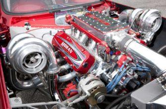 мощный двигатель в автомобиле