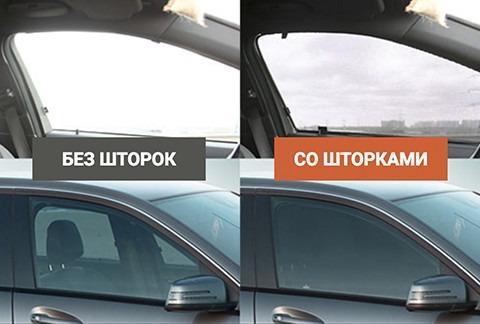 Штраф за использование автомобильных шторок