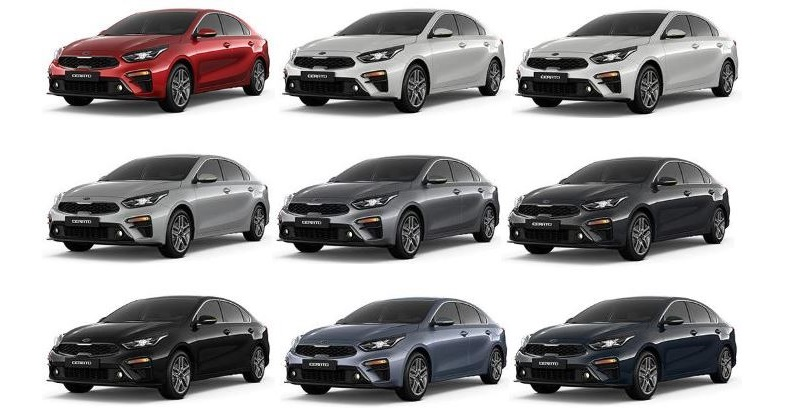 Цветовой ряд автомобиля