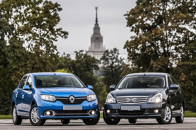 Nissan Almera и Renault Logan